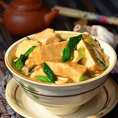 蒜苗烧豆腐