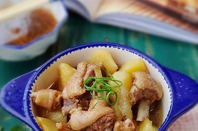 土豆焖鸭块