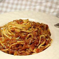 芝士焗意面(茄汁肉末意面)的做法图解8