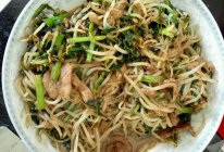 豆芽韭菜炒肉丝的做法