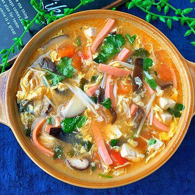 10分钟就能搞定的低脂酸辣汤❗好喝又开胃