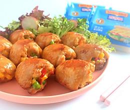 芝士彩蔬鸡翅#百吉福食尚达人#的做法