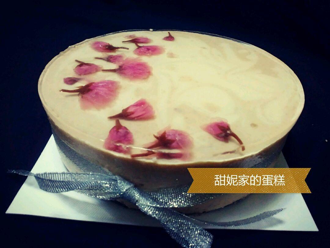和风樱花系列——樱桃酸奶芝士蛋糕6寸