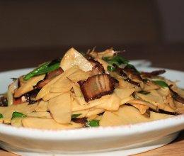 快手家常菜#山的味道#冬笋炒腊肉的做法