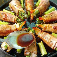 芦笋鲜虾培根卷的做法图解7
