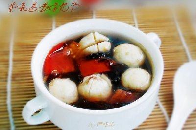 紫菜番茄鱼丸汤