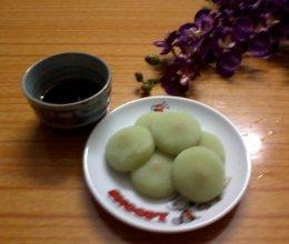 绿豆味麻糬的做法