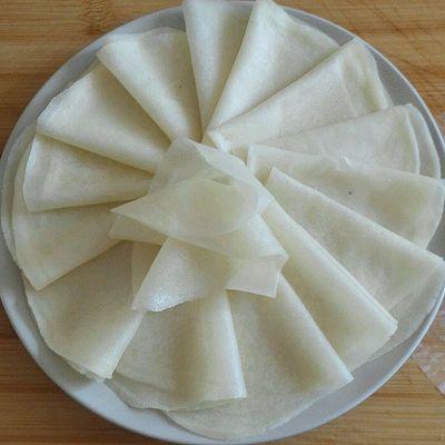 饺子皮变身春饼
