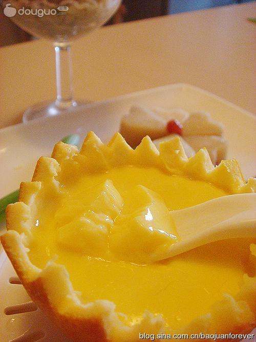 橙碗蒸蛋的做法