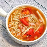 番茄菌菇汤的做法图解9