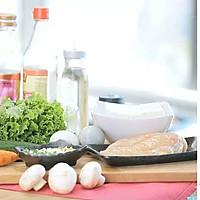 健康便当15(豆腐鸡胸肉饼+胡萝卜炒口蘑)的做法图解1