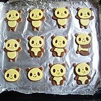 超萌熊猫饼干的做法图解7