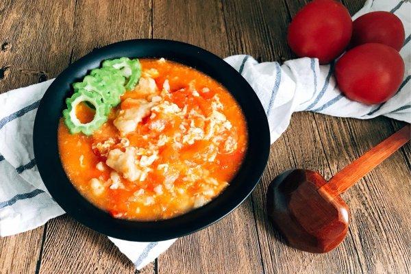 西红柿鸡蛋疙瘩汤 超简单快手 家的味道的做法