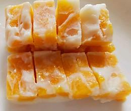 舔盘Q糖芒果奶冻 自制冰棒的做法