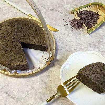 紫米黑芝麻蒸糕