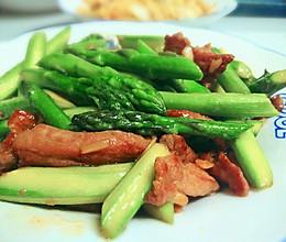 私家小炒——芦笋猪颈肉的做法