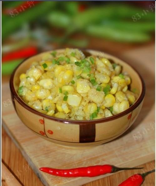 零嘴菜肴:椒盐玉米粒的做法