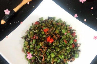 懒人最爱下饭菜#橄榄四季豆