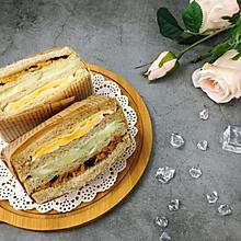 营养美味的芝士肉松三明治(含折纸法)