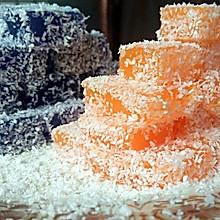 椰蓉胡萝卜冻和椰蓉紫甘蓝冻