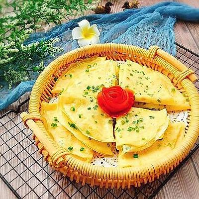 快手早餐+鸡蛋葱花软饼
