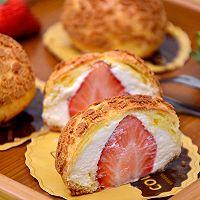 【草莓酥皮泡芙】——草莓季系列美食的做法图解22