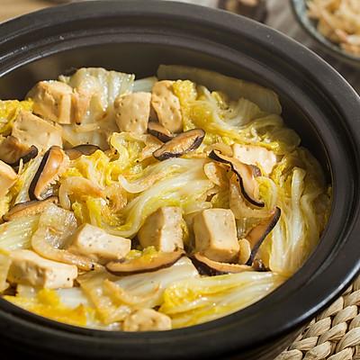 白菜虾皮豆腐煲