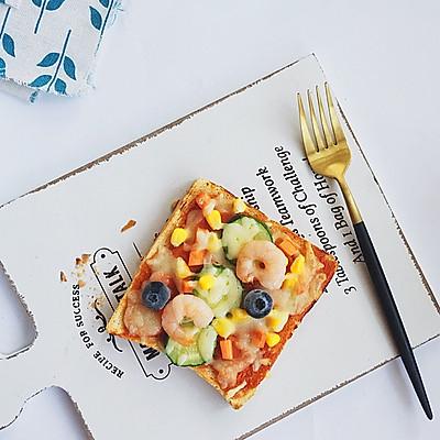 虾仁吐司披萨