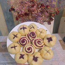 紫薯馒头&玫瑰花卷