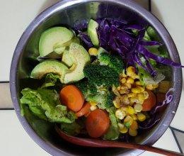 低脂高纤蔬菜沙拉的做法