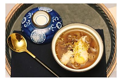 桂圆水波蛋甜汤