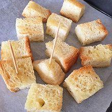 蜂蜜烤面包块