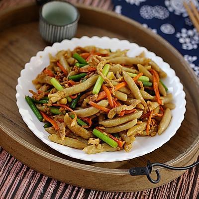 杂炒莜面鱼