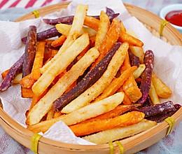 #夏日撩人滋味#三色薯条安排起来的做法