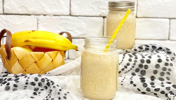 #花10分钟,做一道菜!#香蕉花生奶昔