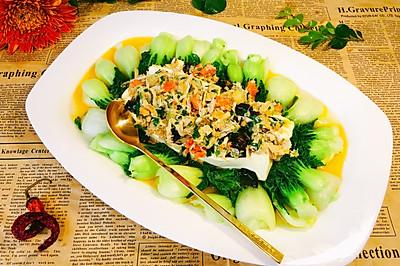 奶白菜醋蟹粉豆腐