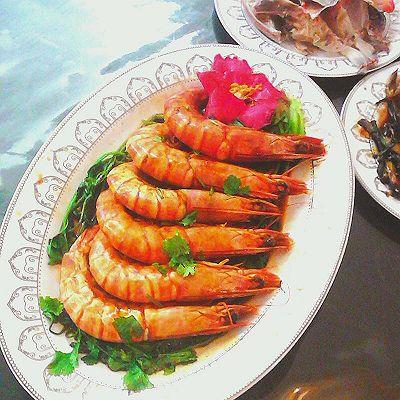 红烧天然野生虾