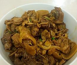 小黄蘑炖鸡的做法