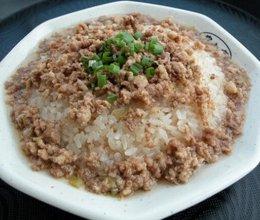 台州早点小吃一一肉末炊饭的做法