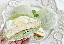 抹茶乳酪冰皮月亮蛋糕的做法