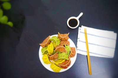 「迟の味」三色三鲜水饺 #洁柔食刻,纸为爱下厨#