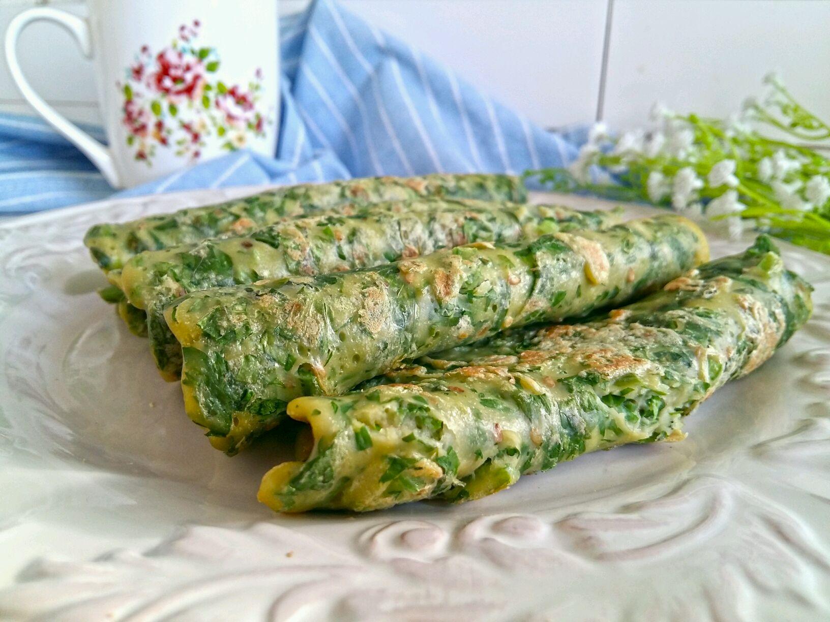 芹菜叶鸡蛋饼#柏翠辅食节-营养佐餐