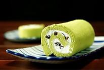 抹茶蜜豆卷【微体兔菜谱】的做法