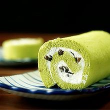 抹茶蜜豆卷【微体兔菜谱】