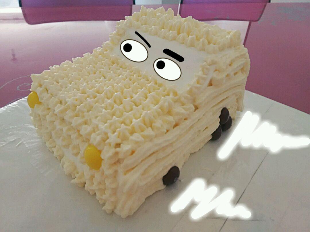 小汽车蛋糕的做法图解8