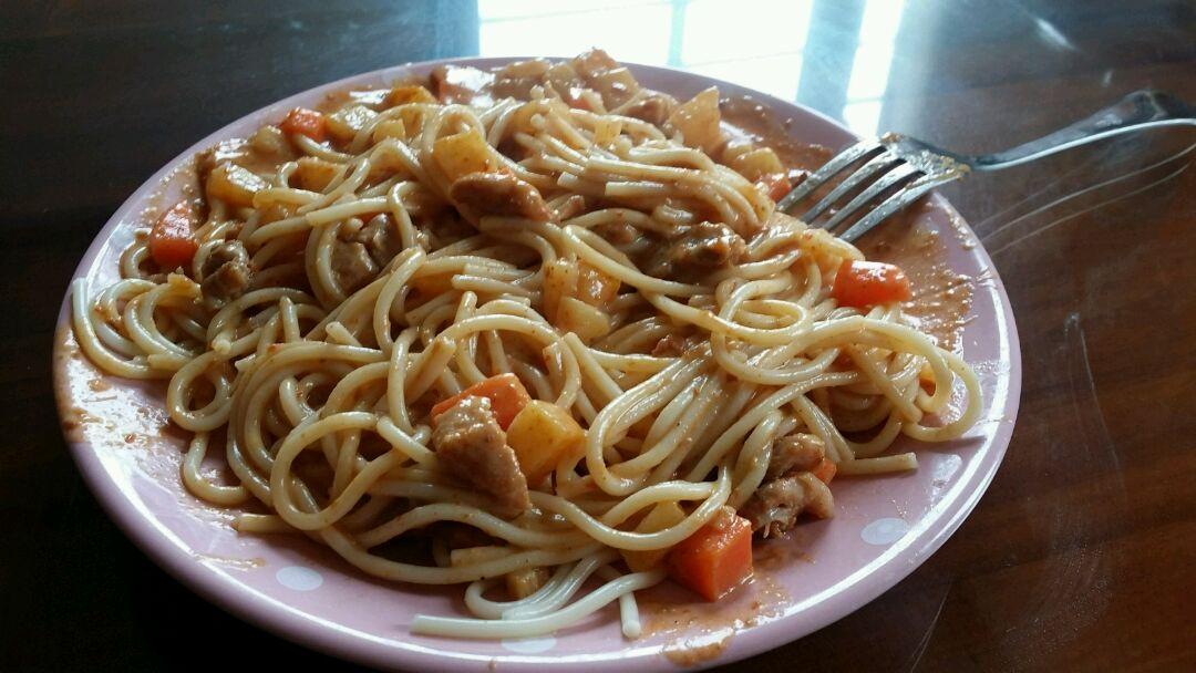 咖喱意大利面的做法图解5