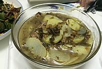 盐菜土豆肉片汤的做法