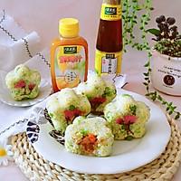 豌豆汁心饭团 太太乐鲜鸡汁蒸鸡原汤的做法图解18