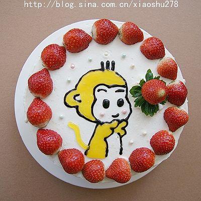 小猴生日蛋糕