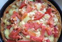 松子火腿三文鱼水果披萨的做法